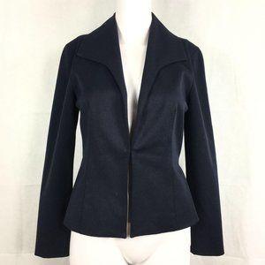 Cache Navy Blue Fitted Blazer Jacket Sz 0